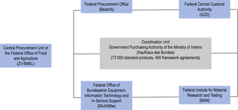 Figure ‎3.1. Central Purchasing Bodies at the federal level