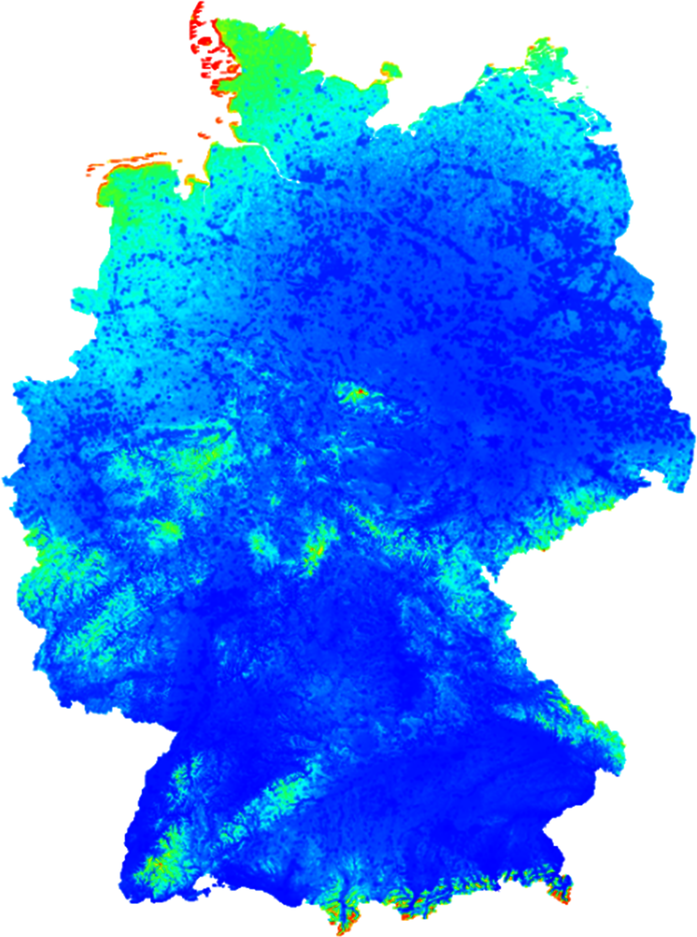 Figure 1.17. Local wind power adequacy in Germany