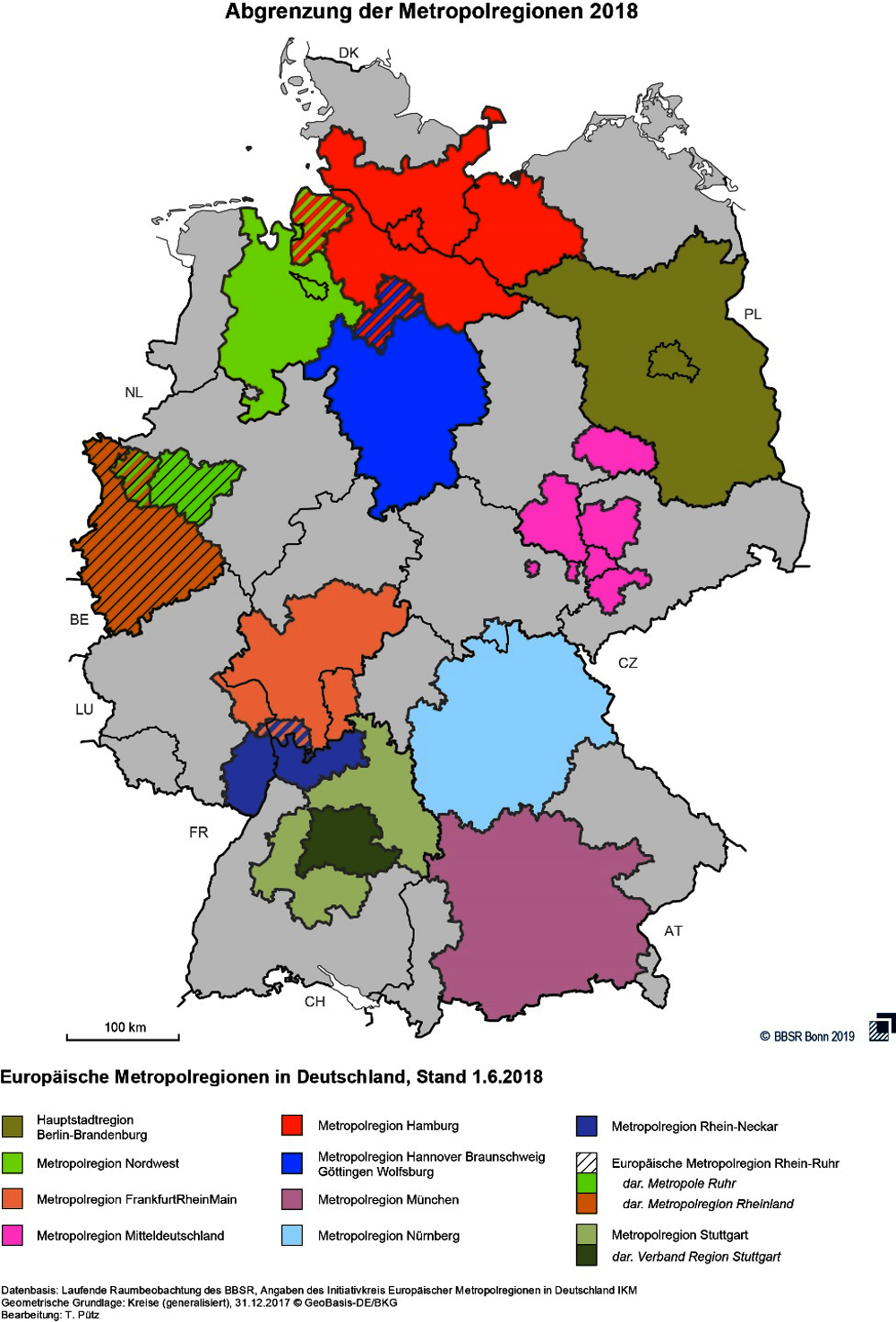 Figure 1.3. Metropolitan regions in Germany as of April 2018