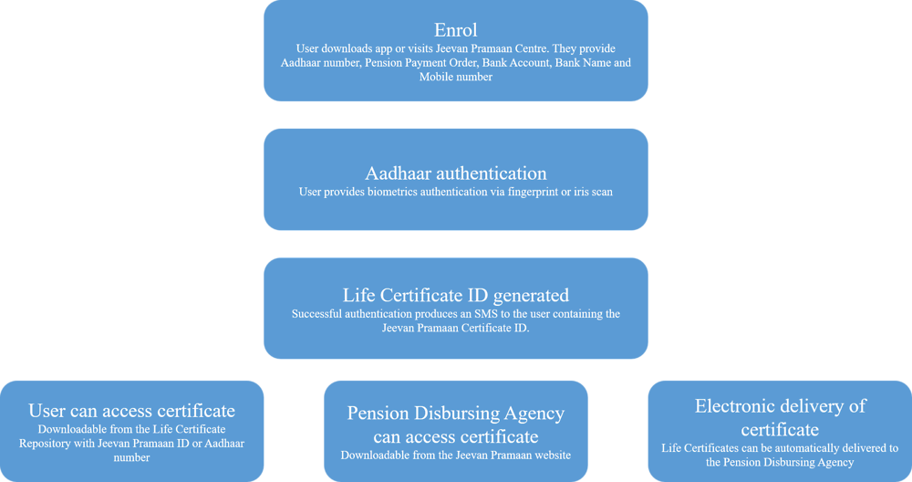 Figure 2.24. Digital Life Certificate for Pensioners process