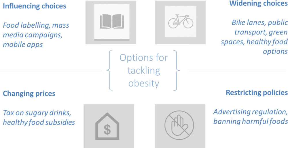 Figure 5.2. Overweight policy framework and selected policy examples