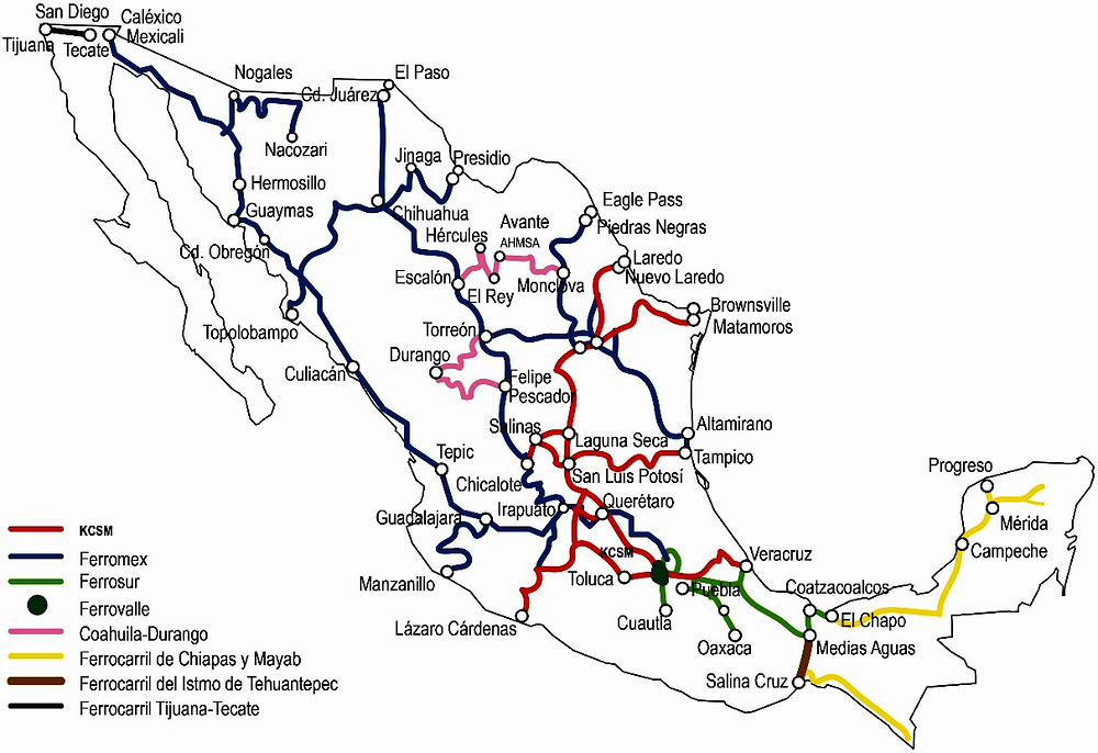 Figure ‎3.1. The initial concession structure in Mexico