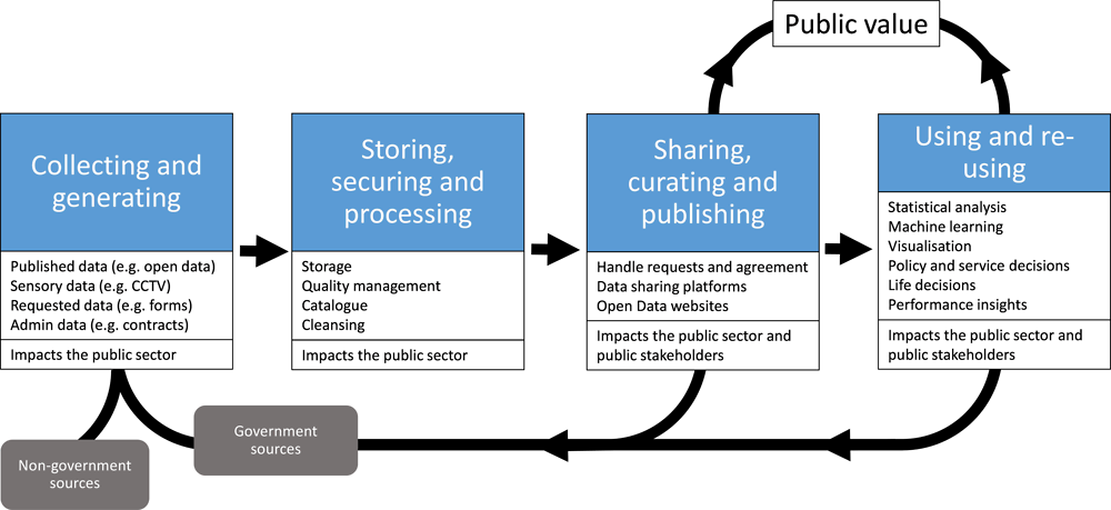 Figure 6.3. Government data value chain/cycle