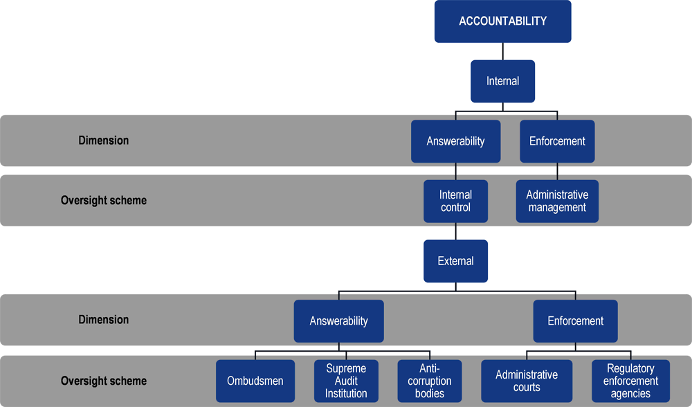 Figure 12.1. Architecture of oversight mechanisms ensuring public accountability