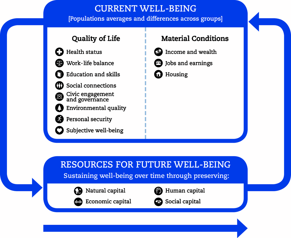 Figure A.1. The OECD well-being framework