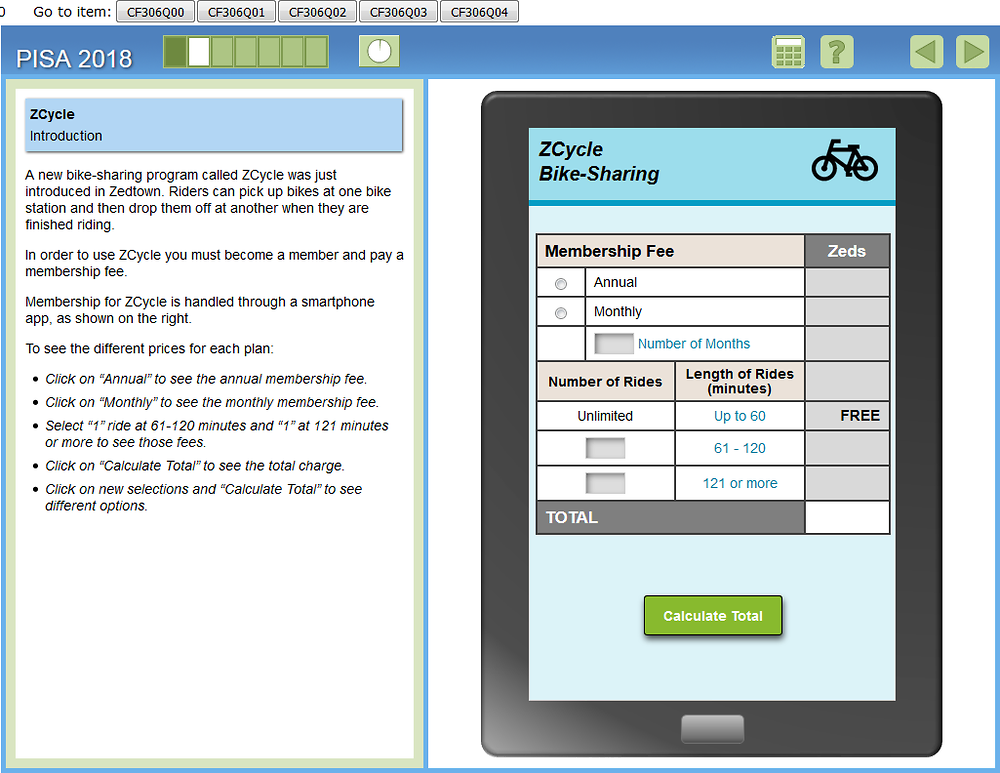 Figure 5.3. Illustrative PISA Financial literacy item 3 – ZCYCLE