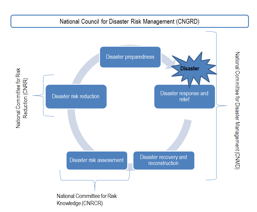 Figure 3.4. National committees that co-ordinate activities of the disaster risk management cycle