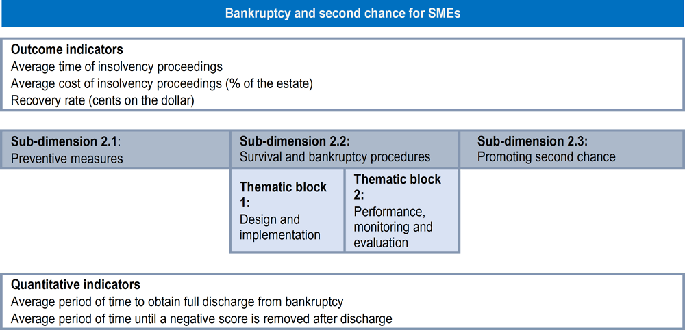 Figure 2.2. Assessment framework for Dimension 2: Bankruptcy and second chance for SMEs
