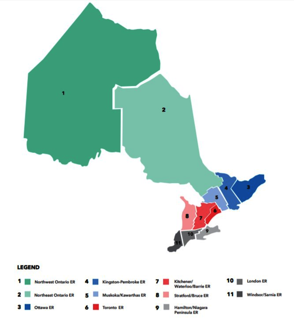Figure 2.5. Ontario economic regions